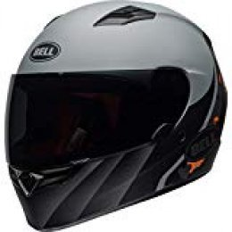 Bell Street 2019 Qualifier STD - Casco para adulto (talla mediana), color negro mate y naranja