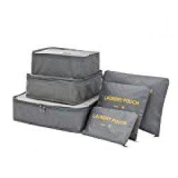 Meowoo Organizador de Equipaje 7 en 1 Set Organizador de Maletas Impermeable Viaje con Bolsa de Zapato, Material Nylon