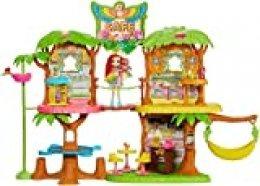 Enchantimals - Cafetería Junglewood con muñeca y mascota Peeki Parrot y accesorios (Mattel GNC57)