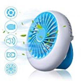NASUM Mini Ventilador, USB Ventilador Portatil Batería Recargable con 3 Modos de Velocidad, Ventilador de Mano para Oficinas Casas Coches al Aire Libre(Negro)