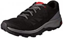 SALOMON Shoes Outline BK, Zapatillas para Hombre, Multicolor (Black/Quiet Shade/High Risk Red), 40 EU