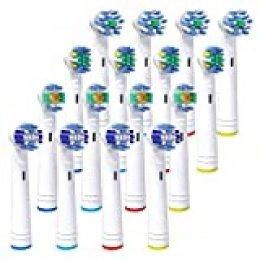 iTrunk Paquete 16 cabezales de cepillo de dientes,cabezales de reemplazo Compatible con Pro700Pro5000Pro6500,incluyendo 4 Cross, 4 Precision Clean,4 Floss y 4 3-D Whitening