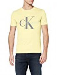 Calvin Klein Vegetable Dye Monogram Slim tee Camiseta para Hombre