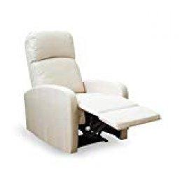 Astan Hogar Premium Plus Sillón Relax Con Reclinación Manual, Tapizado en  Tela Crema, Compacto