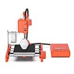 LABISTS Impresora 3D, Impresora Mini y Portátil con Filamento PLA de 10 m, Placa de Construcción Extraíble, Impresión en Línea/Fuera de Línea Impresora 3D Tamaño de Impresión 100mm x 100mm x 100mm
