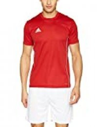 adidas CORE18 JSY T-Shirt, Hombre, Power Red/White, XS