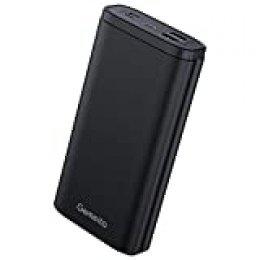 Gemeita Batería Externa, 20000mAh Power Bank Cargador Portátil de Gran Capacidad con Puertos de Salida Micro USB/Tipo C y Otros 3 Tipos y 2 Puertos de Entrada para Smartphones Tabletas