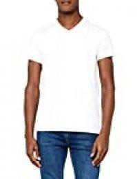 Marca Amazon - MERAKI Camiseta Slim Fit de Manga Corta con Cuello de Pico Hombre