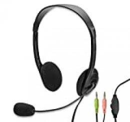 Eminent EM3563 - Auriculares de Diadema Abiertos (con Micrófono), Negro