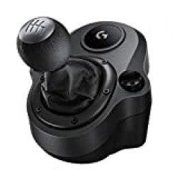 Logitech G Driving Force Palanca de Cambio para Volantes de Carreras G29 y G920, 6 Velocidades, Marcha Atrás a Presion, Acero y Cuero, PS4/Xbox One/PC/Mac, Negro