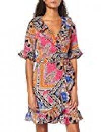 Marca Amazon - find. Vestido de Flores con Volantes Mujer