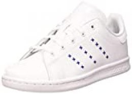 adidas Stan Smith C, Zapatillas de Gimnasio Unisex Niños, FTWR White/FTWR White/Team Royal Blue, 28 EU