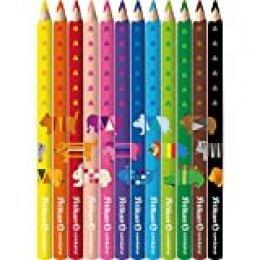 Combino - Lápices de colores (triangulares, gruesos, 12 unidades)