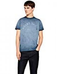 Marca Amazon - find. Camiseta Con Estampado Hombre
