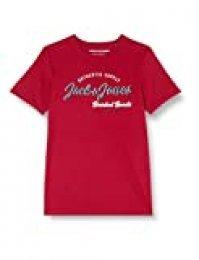 Jack & Jones Jjelogo tee SS O-Neck 2 Col Ss20 Noos Camiseta, Rio Red, L para Hombre