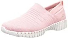 Skechers GO Walk Smart-Wise, Zapatillas para Mujer, Rosa Rosa Rosa Textile Trim Pnk, 39 EU