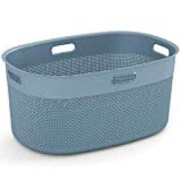 Curver Filo Cesto para ropa, Azul bruma, 45 L