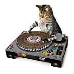 SUCK UK SK CATDECK1 Rascador Tocadiscos para Gatos, Multicolour