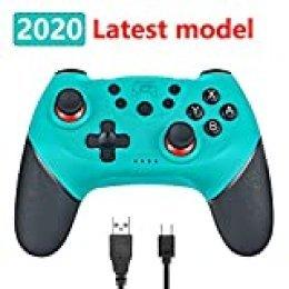Phiraggit Controlador inalámbrico para Nintendo Switch, controlador inalámbrico Bluetooth, control remoto Gamepad con funciones Turbo, controlador inalámbrico Bluetooth Pro de 6 ejes