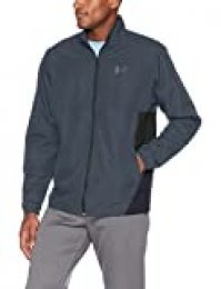Under Armour Men's Sportstyle Woven Full Zip Jacket , Stealth Gray (008)/Black, Small
