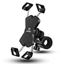 Grefay Soporte Movil Bicicleta Metalizado Soporte Manillar Motocicleta Scooter para 4.0-7.0 Pulgada Smartphones con Rotación 360°