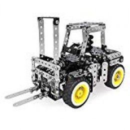Rompecabezas 3D para Niños STEM Learning Toy, Kit de Carretilla Elevadora DIY, 589PCS / set Rompecabezas de Acero Inoxidable 3D DIY Ensamblaje de Juguete Modelo de Carretilla Elevadora de Metal Kit de