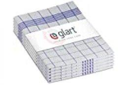 Glart Pack de paños, Algodón, Azul/Blanco, Talla única, 10