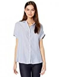 Marca Amazon - Goodthreads Modal Twill Short-sleeve Button-front Shirt - dress-shirts Mujer