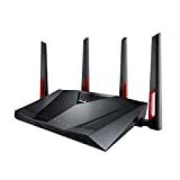 ASUS RT-AC88U - Router Gaming AC3100 Doble Banda Gigabit (triple VLAN, Ai-Mesh soportado, WTFast acelerador de juegos, compatible con DD-WRT, Adaptive QoS y con AiMesh wifi)
