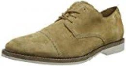 Clarks Atticus Cap, Zapatos de Cordones Derby para Hombre, Beige (Dark Sand Suede Dark Sand Suede), 42.5 EU