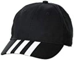 adidas Baseball 3s Gorra, Unisex Adulto, Black/White/White, OSFM