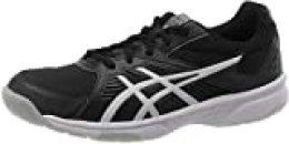 Asics Upcourt 3, Squash Shoe para Hombre, Negro/Plata Pura, 45 EU
