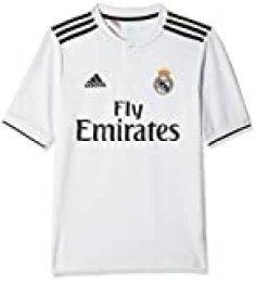 adidas 18/19 Real Madrid Home Camiseta, Niños, Multicolor (blabas/Negro), 176