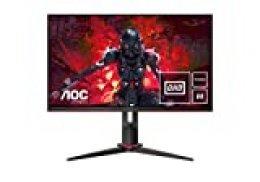 """AOC Q27G2U/BK - Monitor de 27"""" QHD, Resolución 2560 X 1440, 1 Ms, 144 Hz, VA, Freesync, Vesa, Hdmi, Displayport, USB"""