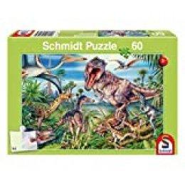 Schmidt Spiele 56193 60pieza(s) Puzzle - Rompecabezas (Jigsaw Puzzle, Dinosaurios, 5 año(s), 361 mm, 243 mm, Caja)