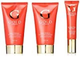 Sueros de oro de la aguamarina de reparación facial hidratante/Mano Crema hidratante y Ultra Ojo Revive Suero Bolsa Conjunto