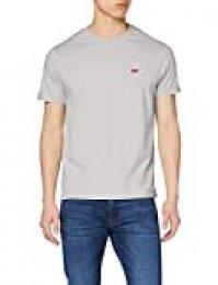 Levi's The Original tee Camiseta, Gris (Cotton + Patch Medium Grey Heather Emb 0015), Large para Hombre