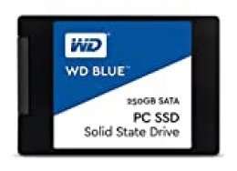 """WD Blue, disco de estado sólido (SSD) interno de 250 GB - SATA a 6 Gb/s y 2,5"""""""
