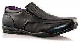 Zapatos informales para niños y niños, informales, para volver a la escuela, color negro, talla 1 – 6