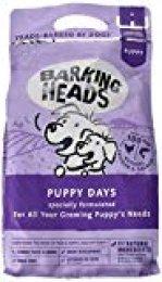 Barking Heads Comida Seca para Cachorros - Puppy Days - Pollo y salmón 100% natural, sin cereales ni aromas artificiales, Ayuda a fortalecer huesos y dientes, 2 kg