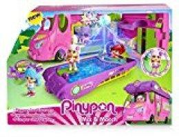 Pinypon- Cool Caravan Set de Juguete y Accesorios Divertidos con 1 Figura Niñas de 4 a 8 Años, Multicolor, única (Famosa 700015070)