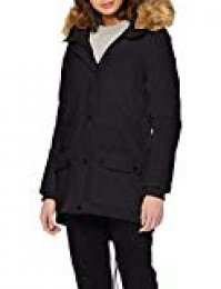 Schott NYC Jktsaraw Ladies Hodded Parka, Abrigo para Mujer, Noir (Black), Large