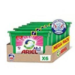 Ariel Allin1 Pods Sensaciones - Detergente en cápsulas para la lavadora, deja un agradable aroma en tu ropa todo el día, 108 lavados (6 x 18)