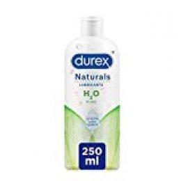 Durex Naturals H2O Lubricante, 100% Natural Sin Fragancia, Colorantes ni Agentes Irritantes – 250ml