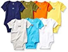 Amazon Essentials 7-Pack Short-Sleeve Bodysuits Unisex bebé