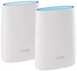 Netgear Orbi RBK50 WiFi Mesh Ultra potente compatible, 1 router wifi + 1 repetidor, cobertura hasta 350 m2, velocidad AC3000