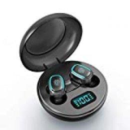 Festnight Auriculares Bluetooth 5.0 Deportivos Auriculares Inalámbricos BT con Caja de Carga, Diseño Estéreo Doble