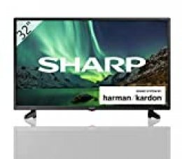 "Sharp 32BB3E - TV de 32"" (resolución 1368 x 720, 3x HDMI, 2x USB) color negro"