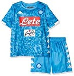 SSC Napoli Kit Bambino, Camiseta de manga corta Insigne Replica, Niño, Azul, 14