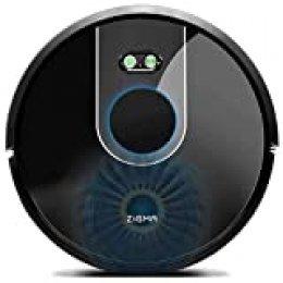 Zigma Robot Aspirador, Navegación Láser, Súper Fuerte Succión, Fregasuelos 4 en 1, App Control con Múltiples Mapas, Alexa y Google Assistant, Programable, para Suelo Duro y Alfombras, Pelo de Mascotas